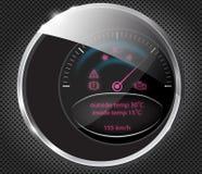 向量可实现的汽车控制板 库存照片