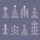 向量图形例证,冬天集合 免版税库存照片
