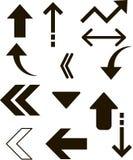 向量图形例证,箭头象,尖,游标 免版税图库摄影