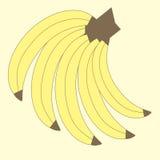 向量图形果子 香蕉的例证 图库摄影