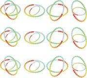 向量图形集合 颜色圆环 库存照片