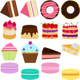 向量图标: 逗人喜爱的甜蛋糕 库存图片