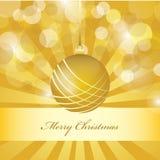向量圣诞节金黄背景 库存图片