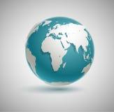 向量地球图标 向量例证