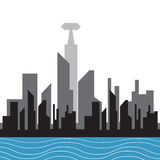 向量城市剪影 免版税图库摄影