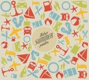 向量夏天模式/背景 免版税库存图片