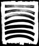 向量套不同的墨水冲程 免版税库存图片