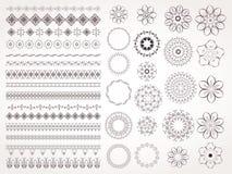 向量套设计的装饰要素 免版税图库摄影
