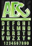 向量字母表绿宝石 免版税图库摄影