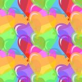 向量心形的气球背景 免版税库存照片