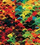 向量抽象种族几何模式-背景 免版税库存照片