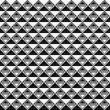 向量无缝的几何模式 三角塑造纹理 黑白背景 单色设计 向量例证