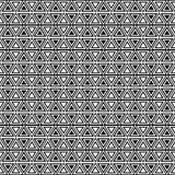 向量无缝的几何模式 三角纹理 黑白背景 单色设计 库存例证