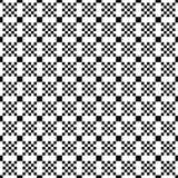 向量无缝的几何模式 正方形简单的纹理  黑白背景 单色设计 向量例证