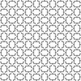 向量无缝的几何模式 线路纹理 黑白背景 单色设计 皇族释放例证