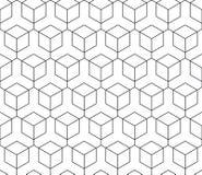 向量无缝的几何模式 经典中国古老充分地编辑可能的装饰品 库存例证