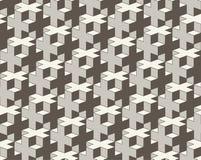 向量无缝的几何模式 3D铺磁砖抽象背景的十字架 皇族释放例证
