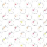向量无缝的模式用苹果 库存照片