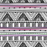 向量无缝的部族纹理 图库摄影