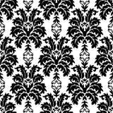 向量无缝的锦缎模式 富有的装饰品,老大马士革styl 免版税库存图片