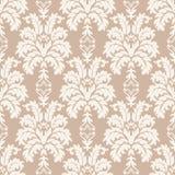 向量无缝的锦缎模式 富有的装饰品,老大马士革styl 库存图片