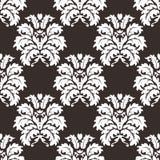 向量无缝的锦缎模式 富有的装饰品,老大马士革styl 库存照片