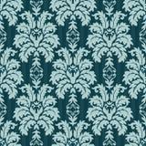 向量无缝的锦缎模式 富有的装饰品,老大马士革styl 免版税库存照片