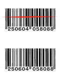 向量条形码 库存照片