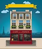 向量欧洲咖啡馆XXL图标 免版税库存图片