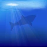 向量水下的场面 免版税库存照片
