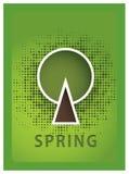 向量海报。 四年的季节。 季节性海报与传统化 免版税库存照片