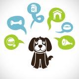 向量滑稽的动画片狗 向量例证