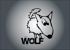 向量狼 向量例证