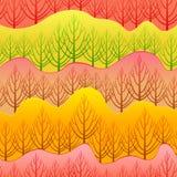 向量秋天模式 图库摄影