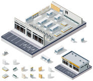 向量等量DIY超级市场内部计划 免版税库存图片