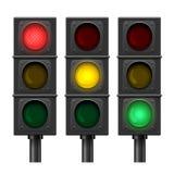 向量红绿灯 免版税库存图片