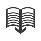 向量红色e -book象征 读和学会网上设计 背景装饰图象风格化漩涡向量挥动 免版税图库摄影