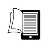向量红色e -book象征 读和学会网上设计 背景装饰图象风格化漩涡向量挥动 库存照片