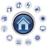 向量聪明的房子概念 免版税库存照片