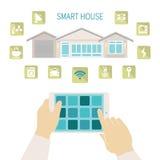 向量聪明的房子概念 库存图片