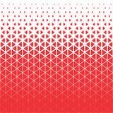 向量背景 抽象红色和白色多角形三角样式 免版税库存照片