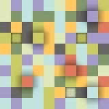 向量背景 抽象纹理的例证与减速火箭的正方形的 库存照片