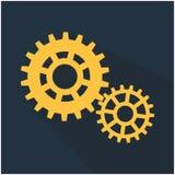 向量背景 齿轮、移动和钝齿轮,机器机制 库存例证