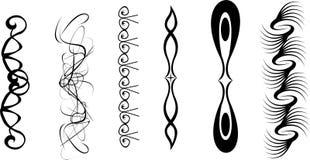 向量艺术纹身花刺结合2 免版税库存图片