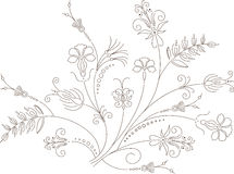 向量花卉设计,工厂装饰品 免版税库存照片