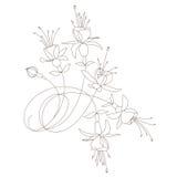 向量花卉设计 库存图片