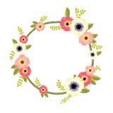 向量花卉边界 免版税库存照片