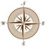 向量葡萄酒褐色指南针 图库摄影