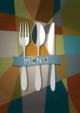 向量餐馆看板卡菜单 免版税库存图片