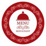 向量餐馆菜单 免版税库存照片